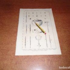 Coleccionismo: ANTIGUA LÁMINA 1908: CINCELADOR. HERRAMIENTAS.. Lote 164345174