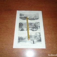 Coleccionismo: ANTIGUA LÁMINA 1908: BILBAO. VISTA DESDE EL MORRO. PUENTE DEL ARENAL. JARDINES DE ALBIA.. Lote 164347894