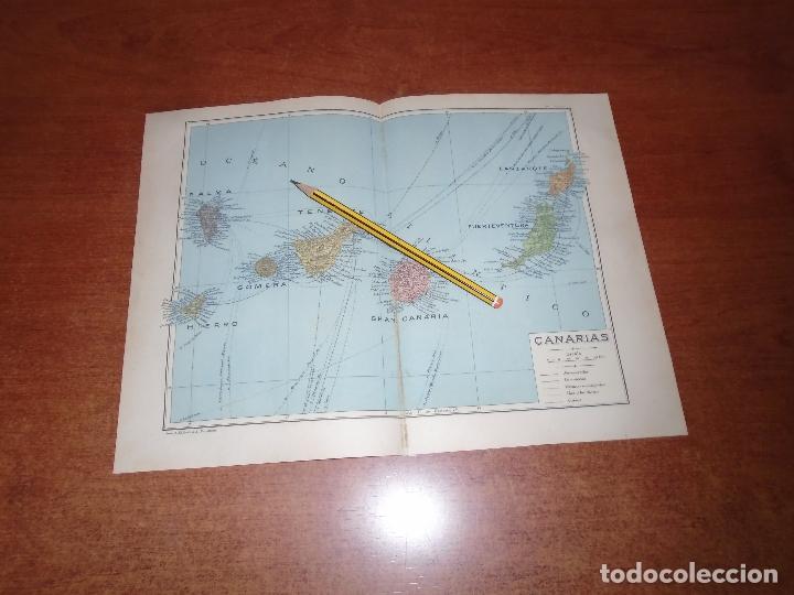 ANTIGUA LÁMINA 1908: MAPA DE CANARIAS (Coleccionismo - Laminas, Programas y Otros Documentos)