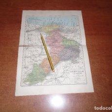 Coleccionismo - ANTIGUA LÁMINA 1908: MAPA DE CASTILLA LA VIEJA - 164348546