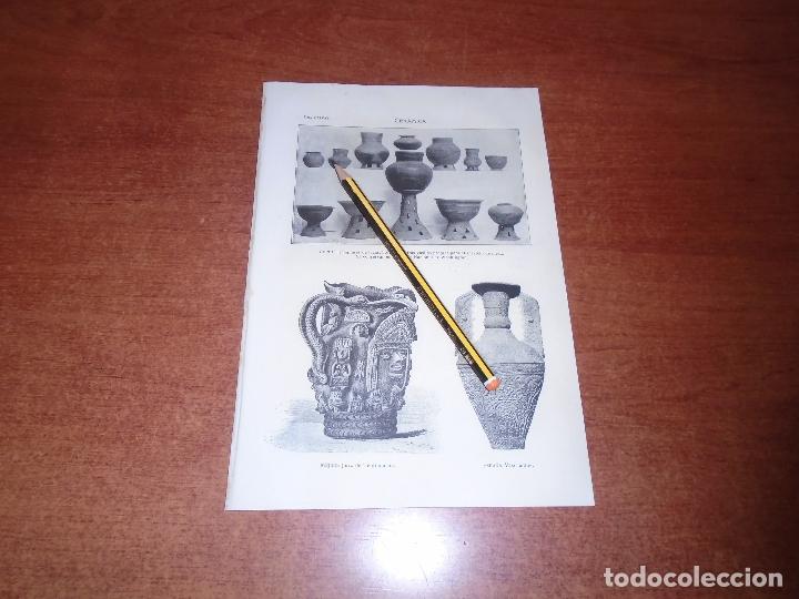 Coleccionismo: ANTIGUA LÁMINA 1908: CERÁMICA. - Foto 2 - 164349166