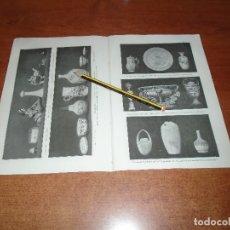 Coleccionismo: ANTIGUA LÁMINA 1908: CERÁMICA. . Lote 164349166