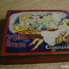 Coleccionismo: CAJA DE CIGARRILLOS MIRANDA'S DREAM CIGARRETTES. DODO DESIGNS MADE IN ENGLAND. 1980. Lote 164641286