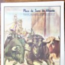 Coleccionismo: PLAZA DE TOROS DE ALICANTE, 1949. PROGRAMA DE MANO DE LOS FESTEJOS DE LAS HOGUERAS DE SAN JUAN. Lote 164760174