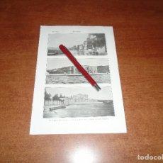 Coleccionismo: ANTIGUA LÁMINA 1908: BÓSFORO. PALACIO DE BEYLER BEY. PALACIO DE DOLMA BAGHTCHÉ. Lote 164769910