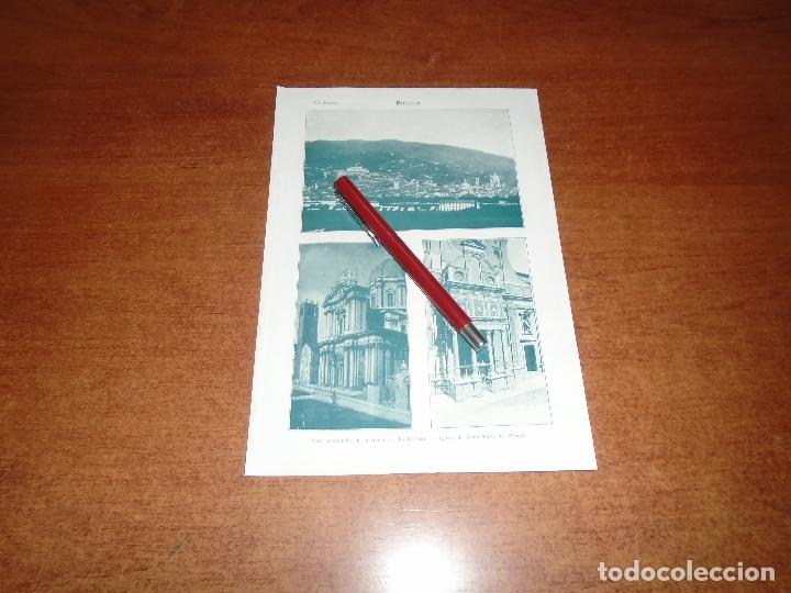 ANTIGUA LÁMINA 1908: BRESCIA. VISTA CIUDAD. CATEDRAL. IGLESIA DE STA. Mª DEL MILAGRO (Coleccionismo - Laminas, Programas y Otros Documentos)
