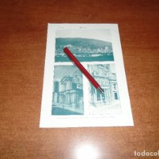 Coleccionismo - ANTIGUA LÁMINA 1908: BRESCIA. VISTA CIUDAD. CATEDRAL. IGLESIA DE STA. Mª DEL MILAGRO - 164769946