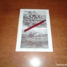 Coleccionismo: ANTIGUA LÁMINA 1908: BUEY. . Lote 164770142
