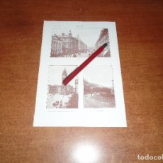 Coleccionismo: ANTIGUA LÁMINA 1908: BELFAST. AVDA. REAL. CAVE HILL. MONUMENTO PPE. ALBERTO. . Lote 164770234