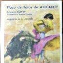 Coleccionismo: PLAZA DE TOROS DE ALICANTE. EXTRAORDINARIA NOVILLADA, 19 MARZO 1963. DÍPTICO. 11'8 X 7'5 CM CERRADO. Lote 164771778
