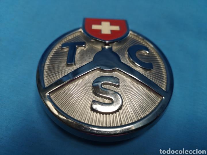 Coleccionismo: Antiguo Emblema de coche t c s touring club suisse , badge sin usar - Foto 2 - 165227964