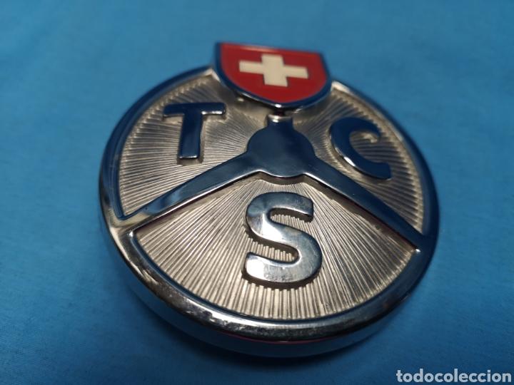 Coleccionismo: Antiguo Emblema de coche t c s touring club suisse , badge sin usar - Foto 4 - 165227964