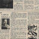 Coleccionismo: AÑO 1954 RECORTE PRENSA PINTURA GARCIA VILELLA . Lote 165257910