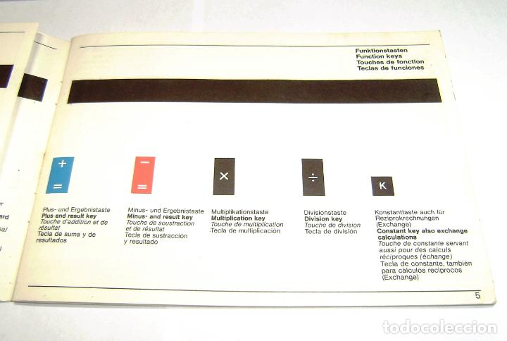 Coleccionismo: MANUAL PARA LA CALCULADORA ELECTRONICA - ADLER 805.AÑOS 70. - Foto 4 - 165260070