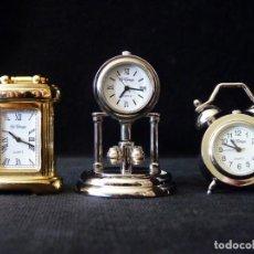Coleccionismo: LOTE DE 3 RELOJES EN MINIATURA MARCA LE TEMPS. QUARTZ. Lote 165506086