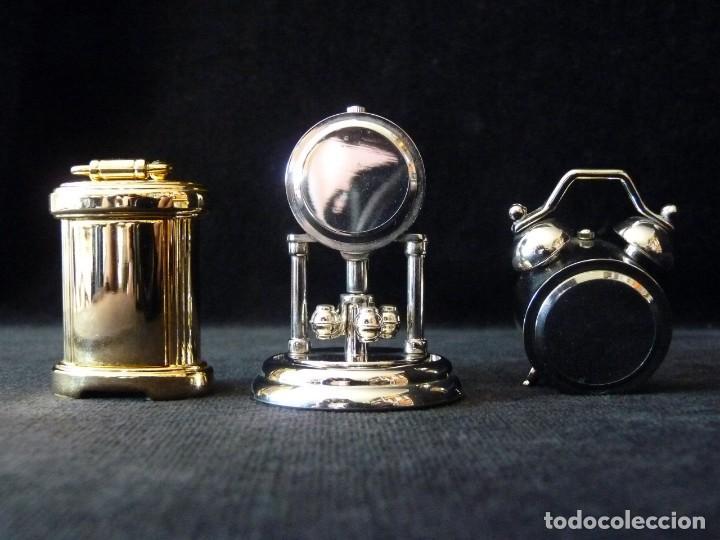 Coleccionismo: LOTE DE 3 RELOJES EN MINIATURA MARCA LE TEMPS. QUARTZ - Foto 2 - 165506086