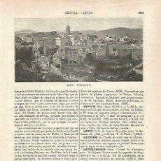 Coleccionismo - LAMINA ESPASA 33217: Vista general de Letur, Albacete - 165695364