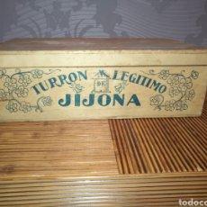Coleccionismo: ANTIGUA CAJA TURRON DE LEGÍTIMO JIJONA TAMAÑO 10 X 18 X 30 CM.. Lote 165852105