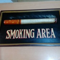 Coleccionismo: CUADRO CON RELIEVE SMOKING ÁREA 54X 32 CENTIMETROS - VER FOTOS. Lote 166196034