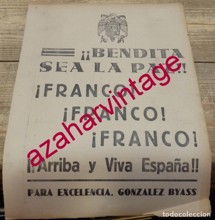 GUERRA CIVIL, PROPAGANDA PATRIOTICA GONZALEZ BYASS, HOJA DE PERIODICO (Coleccionismo - Laminas, Programas y Otros Documentos)