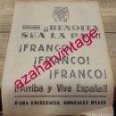 Coleccionismo: GUERRA CIVIL, PROPAGANDA PATRIOTICA GONZALEZ BYASS, HOJA DE PERIODICO. Lote 166482998