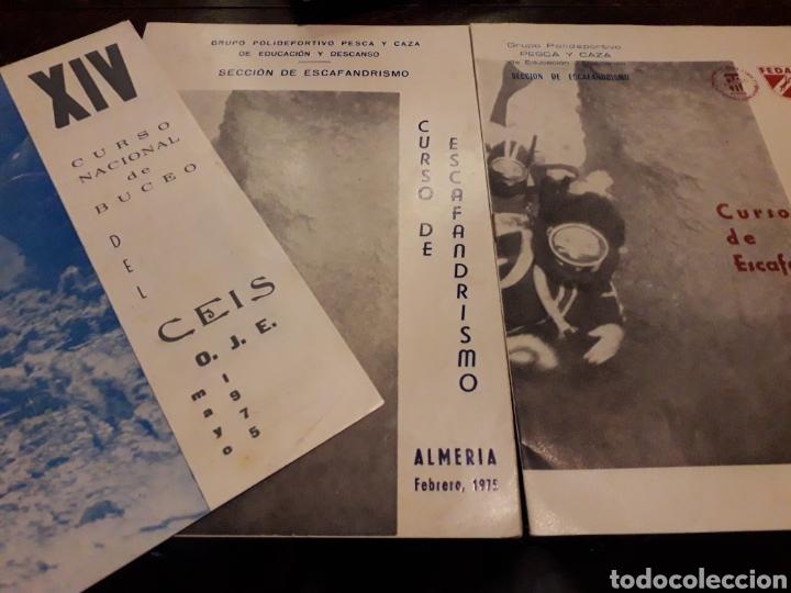 3 PROGRAMAS DE CURSO DE ESCAFANDRISMO 1975. 1973.1975. ALMERÍA (Coleccionismo - Laminas, Programas y Otros Documentos)