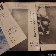 Coleccionismo: 3 PROGRAMAS DE CURSO DE ESCAFANDRISMO 1975. 1973.1975. Lote 166524089