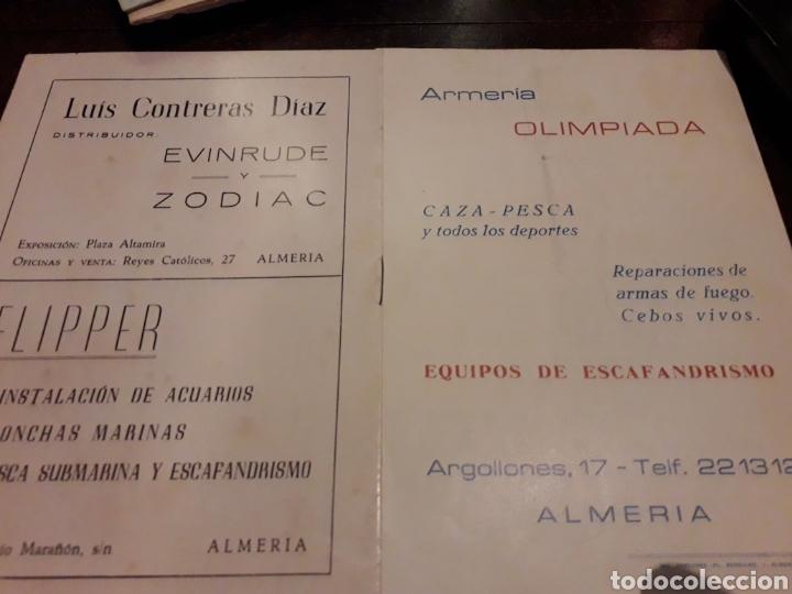 Coleccionismo: 3 programas de Curso de escafandrismo 1975. 1973.1975. Almería - Foto 2 - 166524089