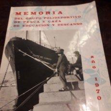 Coleccionismo: MEMORIA. POLIDEPORTIVO DE PESCA Y CAZA AÑO 1970 ALMERIA. Lote 166525358