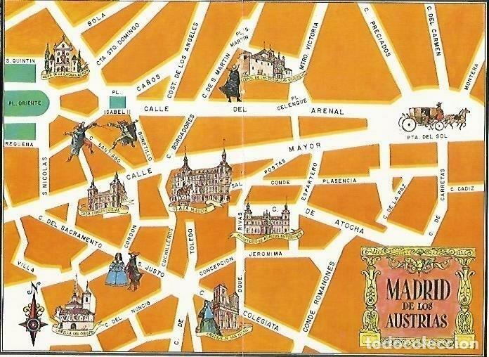 Resultado de imagen de madrid de los austrias mapa