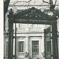 Coleccionismo: LAMINA 14442: FACHADA DEL MUSEO ARQUEOLOGICO NACIONAL, MADRID. Lote 166677501