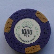 Coleccionismo: SPAIN 1000 PESETAS CASH CASINO MARBELLA NUEVA ANDALUCIA CHIP VINTAGE OBSOLETE. Lote 166939788
