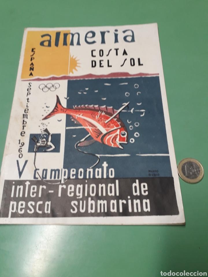 LIBRETO V CAMPEONATO INTER-REGIONAL PESCA SUBMARINA 1960 COSTA DEL SOL. (Coleccionismo - Laminas, Programas y Otros Documentos)