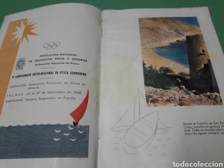 Coleccionismo: Libreto V campeonato inter-regional pesca submarina 1960 Costa del Sol. - Foto 3 - 167543508