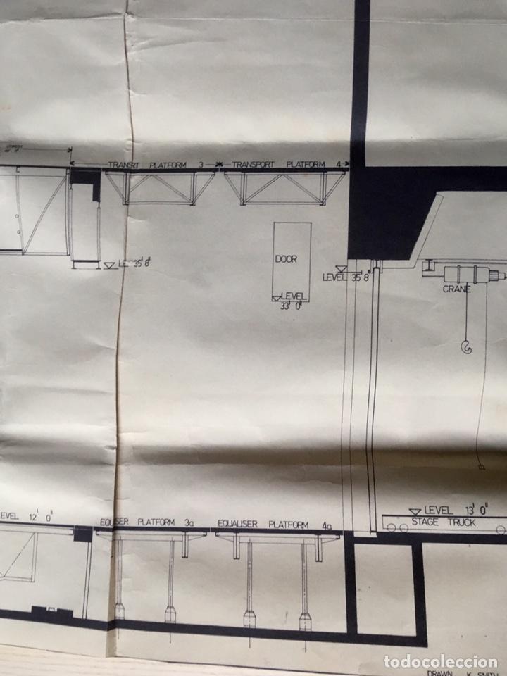 Coleccionismo: UNICO - PLANO SYDNEY OPERA HOUSE THEATRE - ARQUITECTURA - JØRN UTZON - 133x77cm - SIDNEY - Foto 7 - 167812213