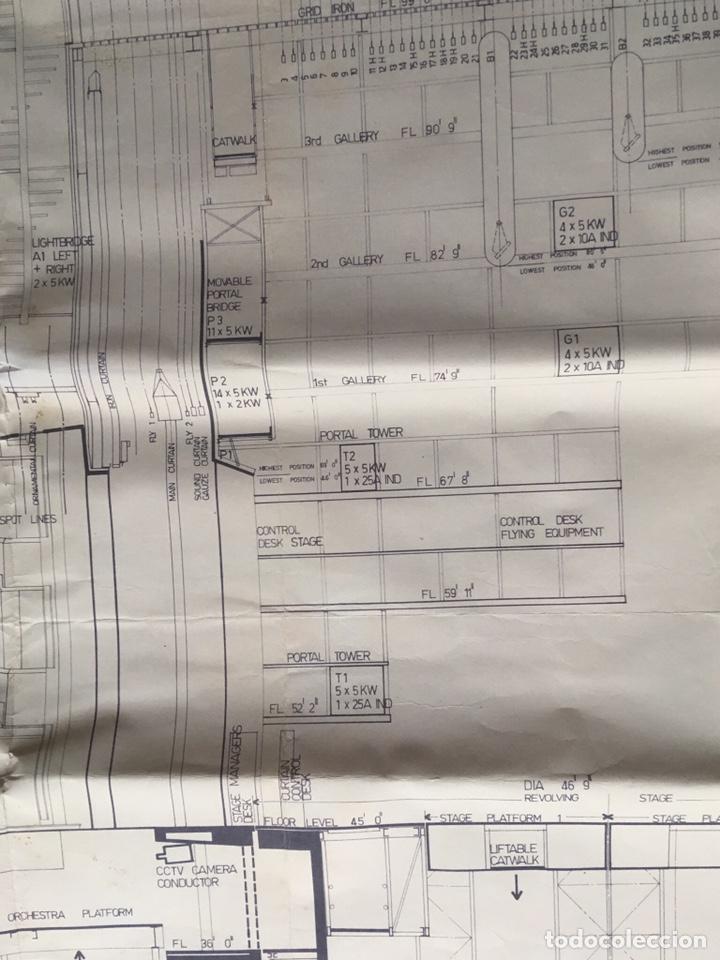 Coleccionismo: UNICO - PLANO SYDNEY OPERA HOUSE THEATRE - ARQUITECTURA - JØRN UTZON - 133x77cm - SIDNEY - Foto 9 - 167812213