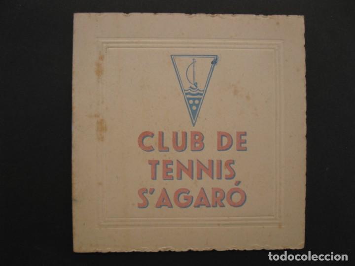 PROGRAMA DE LAS FIESTAS DEL CLUB DE TENNIS S'AGARÓ - AÑO 1942. (Coleccionismo - Laminas, Programas y Otros Documentos)