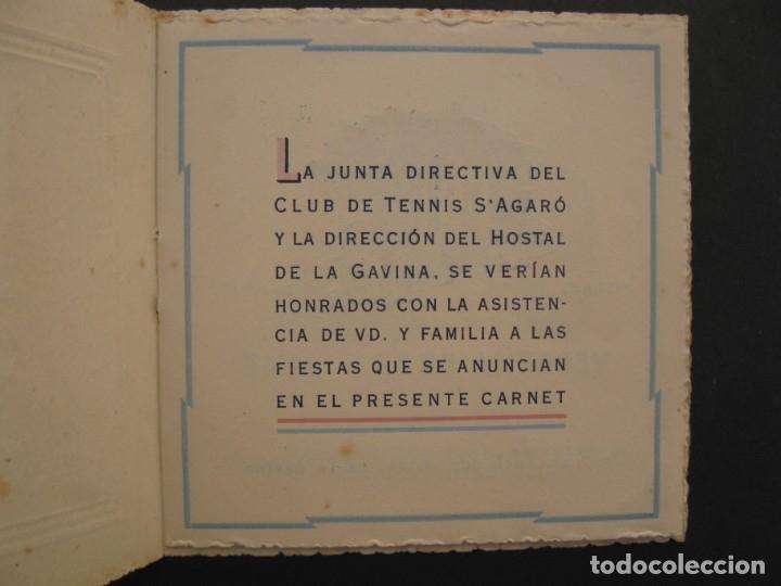 Coleccionismo: PROGRAMA DE LAS FIESTAS DEL CLUB DE TENNIS S'AGARÓ - AÑO 1942. - Foto 2 - 168050836