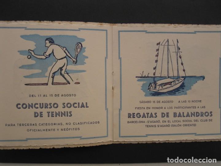 Coleccionismo: PROGRAMA DE LAS FIESTAS DEL CLUB DE TENNIS S'AGARÓ - AÑO 1942. - Foto 4 - 168050836
