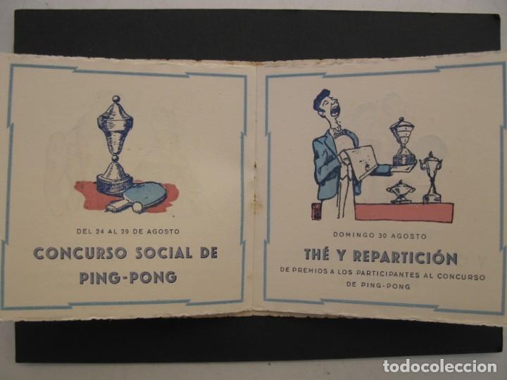 Coleccionismo: PROGRAMA DE LAS FIESTAS DEL CLUB DE TENNIS S'AGARÓ - AÑO 1942. - Foto 5 - 168050836