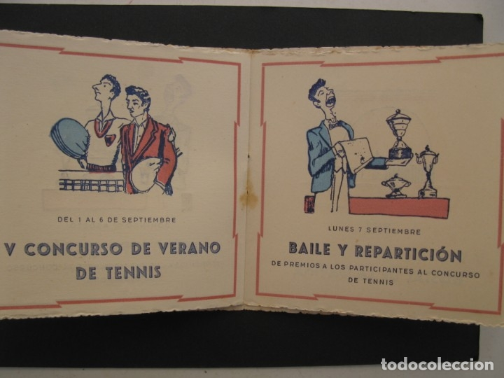 Coleccionismo: PROGRAMA DE LAS FIESTAS DEL CLUB DE TENNIS S'AGARÓ - AÑO 1942. - Foto 6 - 168050836