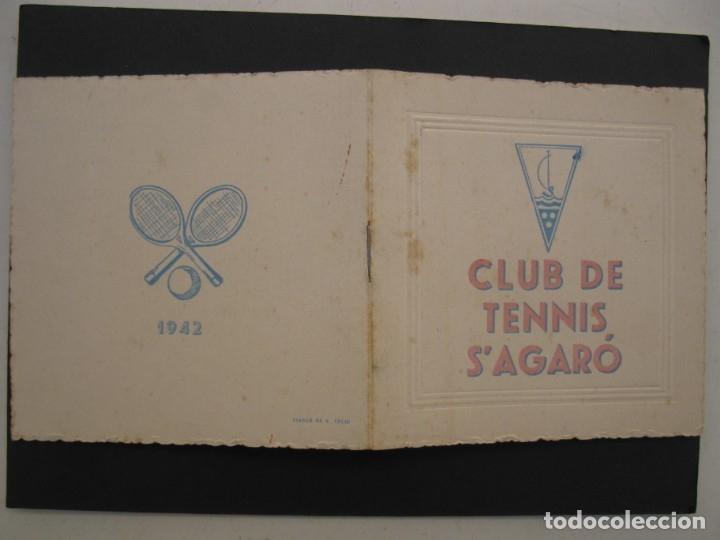 Coleccionismo: PROGRAMA DE LAS FIESTAS DEL CLUB DE TENNIS S'AGARÓ - AÑO 1942. - Foto 7 - 168050836