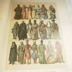 Coleccionismo: LAMINA CROMOLITOGRAFIA S. XIX. EDAD MODERNA.TRAJES PERSAS S. XIX. Lote 168093556