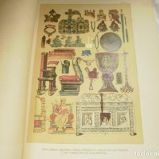 Coleccionismo: LAMINA LITOGRAFIA S. XIX. EDAD MEDIA. ADORNOS, ARMAS, MUEBLES, VASIJAS DE LOS FRANCOS. Lote 168097844