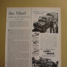 Coleccionismo: LAND ROVER COUNTRY THE 4-WHEEL DRIVE - 18 MARZO 1957. Lote 168513192