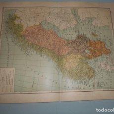 Coleccionismo: DOBLE LÁMINA SALVAT - SUECIA Y NORUEGA - FERROCARRILES ETC. Lote 168615396