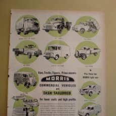 Coleccionismo: VANS TRUCKS TIPPERS PRIME MOVERS MORRIS - LIFE 4 MARZO 1957. Lote 168629428