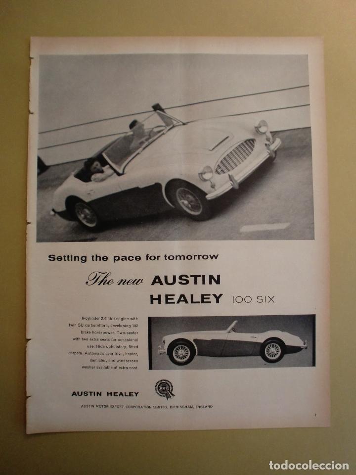 THE NEW AUSTIN HEALEY 100 SIX - LIFE 4 MARZO 1957 (Coleccionismo - Laminas, Programas y Otros Documentos)