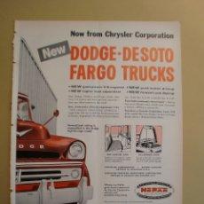 Coleccionismo: DODGE DESOTO FARGO TRUCKS - LIFE 4 FEBRERO 1957. Lote 168630364