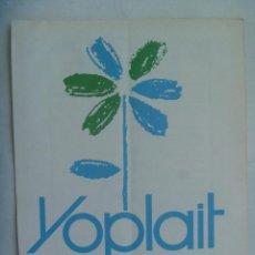 Coleccionismo: HOJA DE PERIODICO CON PUBLICIDAD DE YOGURT YOPLAIT , AÑOS 70. Lote 195235203